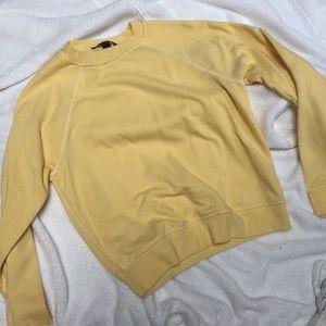 Tops - Yellow crew neck sweater